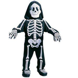 Boys Totally Skelebones Costume White - 4T/5T NWT